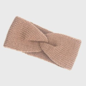 Turbante Headband Transpassado Tricot Rosé