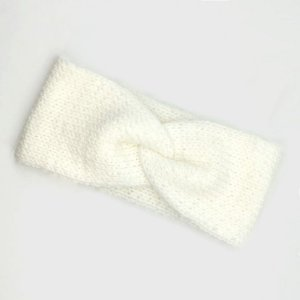 Turbante Headband Transpassado Tricot Branco