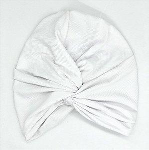 Turbante Touca Fechado Transpassado Branco Textura