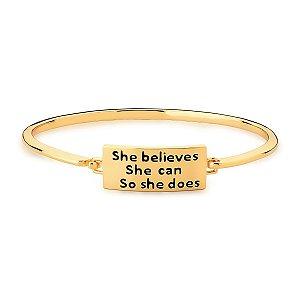 Bracelete Mimme com Placa Escrita