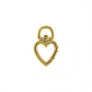 Pin Mosquetinho Coração - Banhado a Ouro