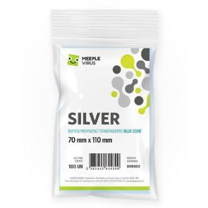 Sleeves Silver 70 x 110 mm (MeepleVirus)