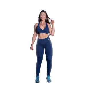Conjunto Top e Legging Supplex Az Marinho Movimento e Cia