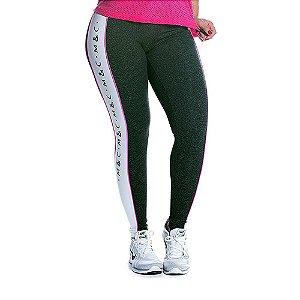 Legging Supplex Atitude Preta e Branco Movimento e Cia