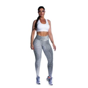 Conjunto Top e Legging Jacquard Estampada Movimento e Cia