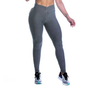 Legging Strength Cinza Empina Bumbum Movimento e Cia