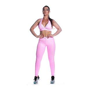 Conjunto Top e Legging Rosa Iogurte Movimento e Cia