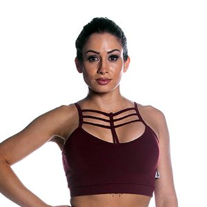 Top Curves Strappy Marsala Movimento e Cia