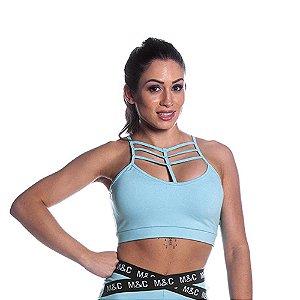 Top Curves Strappy Azul Refúgio Movimento e Cia