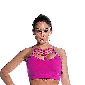 Top Curves Strappy Pink Love Movimento e Cia