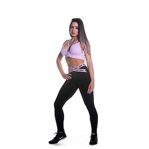Conjunto Top e Legging Rosa Suave Movimento e Cia