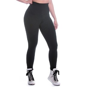 Legging Supplex Cos Alto Preta Movimento e Cia