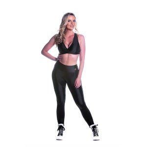 Conjunto Top e Legging Oregon Recorte Preto Movimento e Cia