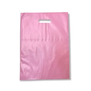 Sacola Plástica / Boca de Palhaço / 30x40 / Rose