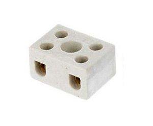 Conector Porcelana 2p 06mm c/10