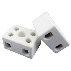 Conector Porcelana 2p 10mm c/10