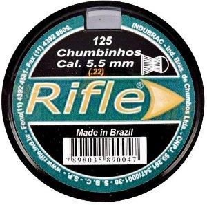 Chumbinho Rifle 5,5mm C/125pcs