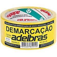 Fita Demarcação Solo Amarela 48mmx14mt Adelbras