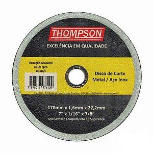 "Disco Corte para Inox 7"""