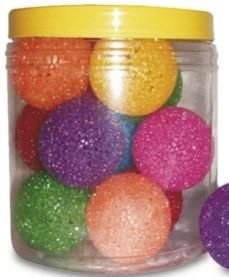 Brinquedo Bola Cristal Sino Pequena Pote C/ 12