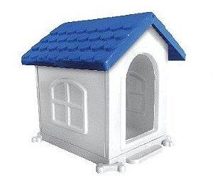 Casa Cachorro Plastico Azul N2