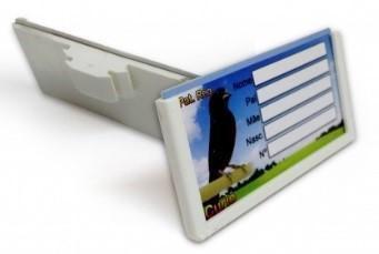 Placa Identificação para Pássaros Sabiá