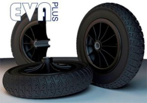 Roda Completa Maciça 3.25x3 26mm