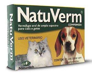 Natu Verm Comprimido Cartela com 04 Comprimidos