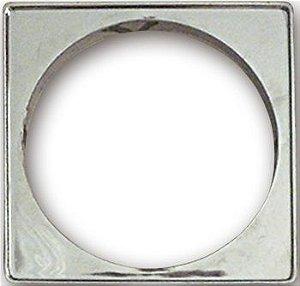 Porta Grelha Plástico Quadrado 100mm Cromado