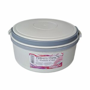 Marmita Térmica 1,5l de Rosca Cinza