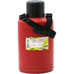 Garrafa Térmica Cantil 1lt Vermelha com Alça