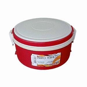 Marmita Térmica 1,5l Vermelha e Creme