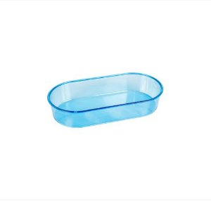 Banheira P Azul Oval 150ml 12Pcs