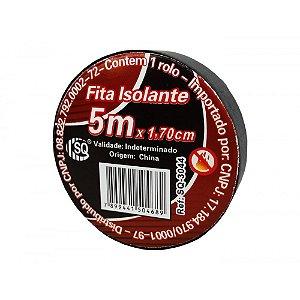 Fita Isolante 5mt com 10pçs Preta Antichama c/10 SQ