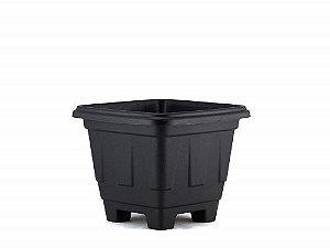 Vaso Plástico Quadrado Preto N.03