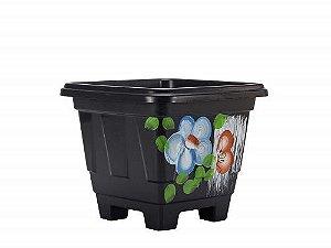 Vaso Plástico Quadrado Decorado N.05