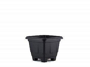Vaso Plástico Quadrado Preto N.00
