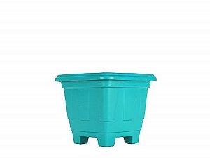 Vaso Plástico Quadrado Color N.01