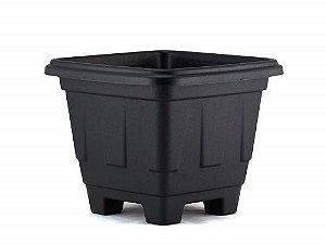 Vaso Plástico Quadrado Preto N.10