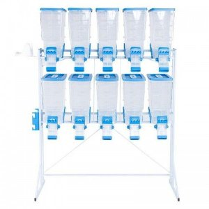 Móvel Dispenser Pet Box Durafood 10x40lts Azul