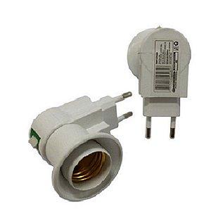 Soquete E27 - Adaptador Tomada com botão liga/desliga