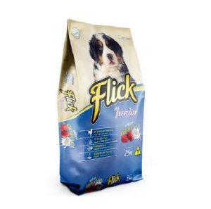 Ração Flick JR Ossinho Carne e Leite 25KG 28% Proteina