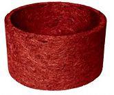Vaso Fibra Coco N.5 30cmx15cm Vermelho