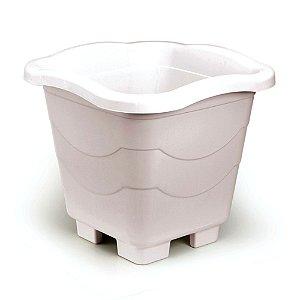 Vaso Quadrado Extra Grande Mármore (399) Injeplastec
