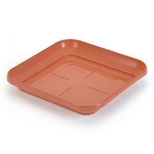 Prato de Vaso Quadrado Pequeno Telha (546) Injeplastec