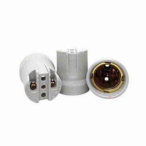 Soquete Porcelana P/Bocal E27 Branco