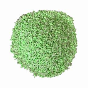 Areia Aquário 800g Verde Fluor
