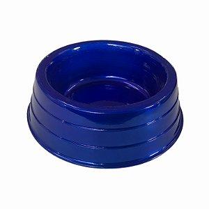 Comedouro Alumínio Pesado Azul Gigante Dog Head