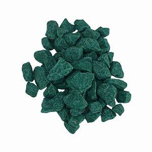 Pedra Aquário 800g Verde Escuro