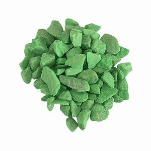 Pedra Aquário 800g Verde Fluor